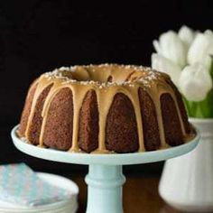 This Banana Pound Cake with Salted Toffee Icing may be the most delicious, easy banana cake you'll ever make! The icing takes it over the top! Toffee, Banana Pound Cakes, Cake Recipes, Dessert Recipes, Fudge Sauce, Cupcake Cakes, Bundt Cakes, Cupcakes, Hot Fudge