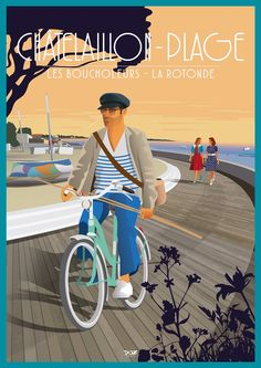 Neo-retro tourist illustrations to order for events Mix Media, Logo Site, Velo Retro, Tourism Poster, Tourism Quotes, Bike Poster, Retro Logos, City Landscape, Bike Art