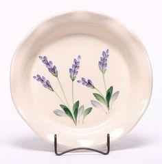 Ceramic Pie Plate, Lavender Pattern: Made in the USA and Lead-Free | Emerson Creek Pottery