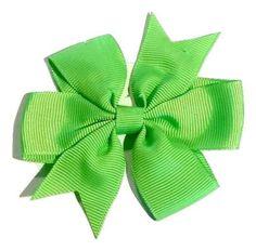 "Lime green 3"" pinwheel grosgrain bow"