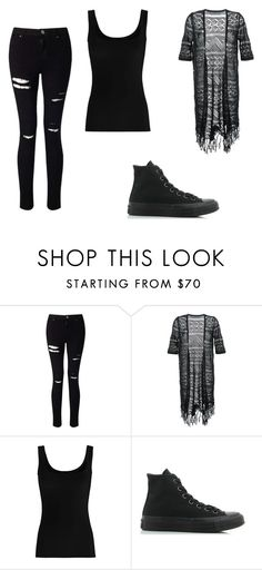 """Untitled #299"" by ootori5sos on Polyvore featuring Miss Selfridge, Guild Prime, Twenty and Converse"