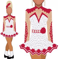 Irish Dance, Dance Dresses, Dance Costumes, Costume Design, Designer Dresses, Drawings, Instagram, Apparel Design, Designer Gowns