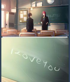 Ahh, so cute. Rin and Haru