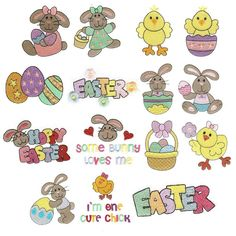 Bunny Filled Machine Embroidery Designs | Designs by JuJu