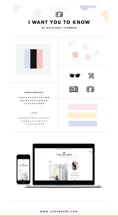 Blog design brand board // bloggers ideas inspiration graphic design