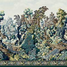 Verdure Tapestry | Cole & Son Tapestry Wallpaper, Silk Wallpaper, Wood Wallpaper, Geometric Wallpaper, Print Wallpaper, Wallpaper Roll, Latest Wallpaper, Scenic Wallpaper, Luxury Wallpaper