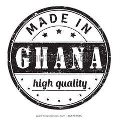 Vector de stock (libre de regalías) sobre Rubber Stamp Text Made Ghana High566787985