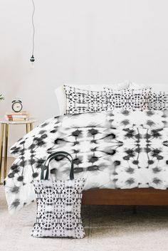 Mirror Dye Dark Grey By Jacqueline Maldonado DENY Designs Bed In A Bag Bed  In A