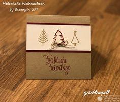 Malerische Weihnchten | geschtempelt, Stampin Up, Malerische Weihnachtenww