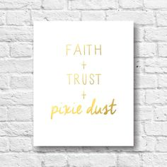 Faith Trust Pixie Dust Peter Pan Gold by TheDancingFingers on Etsy