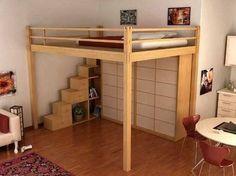 Resultado de imagen de altillos madera cama