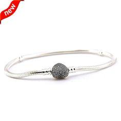 925 Sterling Silver Charm Bracelet     FREE Shipping Worldwide     http://fashjewels.de/original-925-sterling-silver-bracelet-women-fits-snake-charms-bracelets-with-clear-cz-for-women-jewelry-sterling-silver-jewelry/
