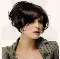 color, high stacked bob, and waves #hair