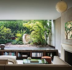 Zen viewing garden - better than any TV. New York Home by Stephen Harris Architects