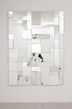 Lello//Arnell, The Lurker at the Threshold Mirror Mosaic, Mirror Art, Diy Mirror, Mirrors, Furniture Design, Furniture Plans, Kids Furniture, System Furniture, Furniture Chairs