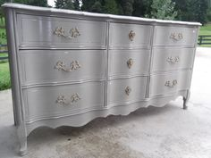 French Provincial Chalk Painted Dresser by newbeginningsdecor