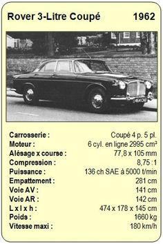 Rover 3-Litre Coupé - 1962 Top Trumps, Car Brochure, Vintage Games, Old Cars, Childhood Memories, Graphic Art, Classic Cars, Automobile, Novels