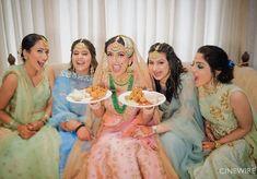 12 Most Creative Bridesmaids shoots We've Seen These Days! Wedding Blog, Wedding Photos, Wedding Day, Wedding Bride, Indian Bridesmaids, Bridesmaid Dresses, Creative Shot, Punjabi Bride, Photoshoot Images