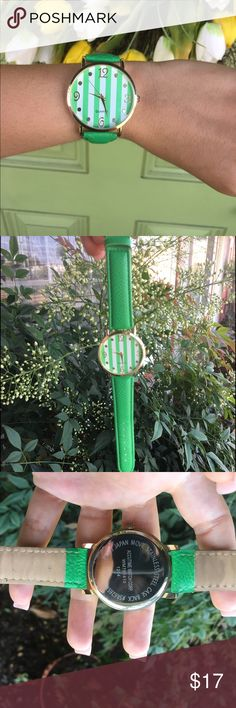 Cute Gold and Green Watch 👒💛💚 No rips on strap, stainless steel, with Gold detailing inside 💚 Accessories Watches