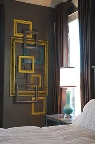Great idea with frames :   Layered frames from our pal Lindsay.  @Living With Lindsay