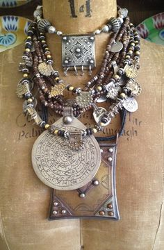 Amulet UP! with Layers - Victoria Z Rivers Jewelry+Antique Moroccan Silver Amulets++Coral+Coins+Trade Beads+ Tribal Diamonds Ethnic Jewelry, Moroccan Jewelry, African Jewelry, Bohemian Jewelry, Jewelry Art, Antique Jewelry, Silver Jewelry, Jewelry Accessories, Jewelry Design