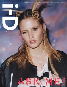 Lara Stone by Tyrone Lebon for i-D Magazine Spring 2013