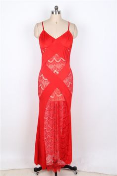 68855caec5 Red Lace Nightie via Joyeux Boudoir. Click on the image to see more!