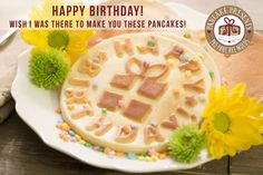 Pancake molds that will make a special breakfast for your husband, wife or child! A Happy Birthday greeting card you can eat! Just some food for thought! https://www.pancakepresents.com/