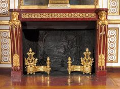 Fireplace made of Griotte marble from the Queen appartments in Versailles Palace, fireplace made in 1784 Versailles, Marble Fireplaces, Fireplace Mantels, Chateau Hotel, Palace Garden, Louvre, Small World, Belle Photo, 18th Century