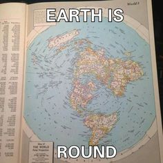 "Yes, the Earth IS ""round"" - round like a disc, not round like a ball! It's a ""round"", flat circle inside a square! #flatearth #theearth #antarctica"