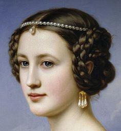 "gailcarriger: ""antique-royals: ""Joseph Karl Stieler ,Schloss Nymphenburg (Castle), Schonheitengalerie (Gallery Of Beauties)(details). "" Hairstyles similar to those the girls where in the Finishing School series. Historical Hairstyles, Portraits, Classical Art, Renaissance Art, Art Plastique, Beautiful Paintings, Female Art, Art History, Joseph"