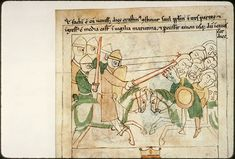 Navarre Picture Bible, Pamplona, Spain, 1197AD: Israel's victory over the Ammonites at Jabesh