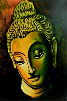 Face Of Buddha (Reprint On Card Paper - Unframed)