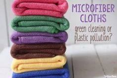 Microfiber used to be a staple in my green cleaning routine, but new research about the wider environmental impact is making me think twice. Natural Fiber Clothing, Cupping Therapy, Wellness Mama, Plastic Pollution, Clean Microfiber, Green Cleaning, Natural Cleaning Products, Cloths, Cleaning Routines