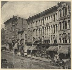 Dearborn and Madison, 1869, Chicago. Chicago History Museum Archives (2 years before the fire)