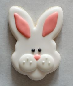 Best Springtime Cookies Bunny Face