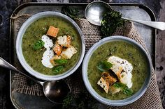 Courgette, garlic and kale soup – Recipes – Bite