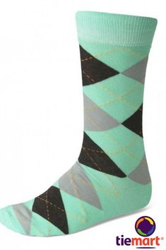 Shop seafoam and gray argyle socks at low, discount prices. Popular for groomsmen, comfortable for everyday. Wedding Socks, Sandals Wedding, Groomsmen Socks, Green Socks, Argyle Socks, Socks And Sandals, Toe Socks, Black Leather Shoes, Diamond Design