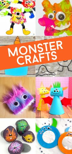These monster crafts for preschoolers are just so cute and fun to make! Since they're geared toward early learners and preschool-aged children, why not show them while they're young that monsters aren't scary at all. Some of these activities are actually kind of cute! You'll find great ideas here that they're going to love doing. #twitchetts #monsters #kidscrafts Cute Kids Crafts, Space Crafts For Kids, Creative Arts And Crafts, Craft Stick Crafts, Preschool Crafts, Fun Crafts For Kids, Toddler Crafts, Diy Crafts, Halloween Crafts For Kids