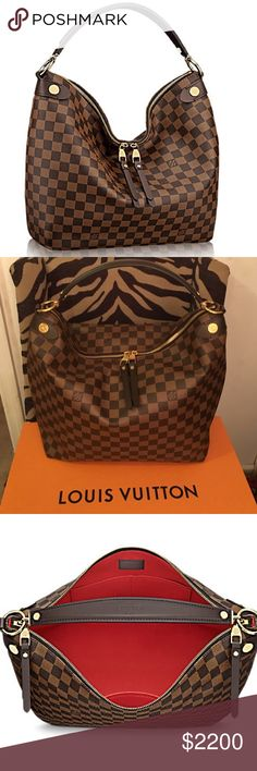 Louis Vuitton Damier Ebene Duomo Hobo #N41861 NRAND NEW Duomo Hobo in Damier Ebene defines understated luxury, with its generous lines and supple hand. Refined details – stamped metal rivets, leather zip pulls – add to the bag's allure, yet it is lightweight and body friendly, ideal for everyday wear. Comes with Box, Dustbag, and Receipt. Purchased directly from Louis Vuitton. 🚫NO TRADES🚫 ❗️PRICE FIRM❗️👑💕 Louis Vuitton Bags Hobos