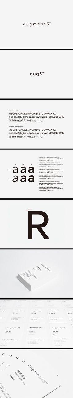 ≪augment5 inc. のためのブランディングツール≫ >Branding for augment5 inc. | augment5 inc. 2011年 / Logo, Typeface, Printed Matter, Web — Agency: NSSGRAPHICA ArtDirection: Munehiro Machida (NSSGRAPHICA) Gestaltung: Makoto Kamimura  (c) augment5 inc. NSSGRAPHICA, Makoto Kamimura