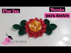 Versão destros :Capinha para botão do fogão flor maranguinho em crochê # Elisa Crochê - YouTube