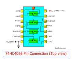 Quad analog switch CMOS Datasheet and example circuits Nand Gate, Autonomous Robots, Analog Signal, Data Sheets, Control, Arduino, Believe In You, Quad, Coding