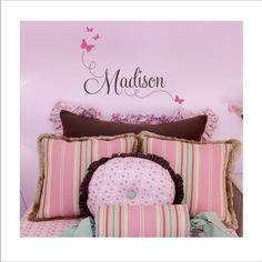 Butterfly Custom Name Decal  Vinyl Wall Art  by loladecor on Etsy, $28.00