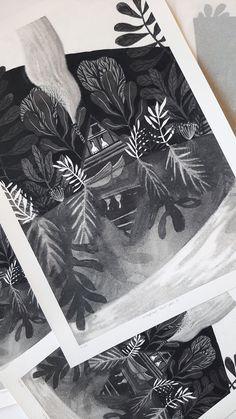 Limited Edition of Fine art print. Gouache, Lonely, Watercolor Art, Fine Art Prints, Illustration Art, Cards, Instagram, Watercolor Painting, Maps