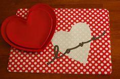DIY~Valentine's Day placemat tutorials ( 2 different placemat ideas)
