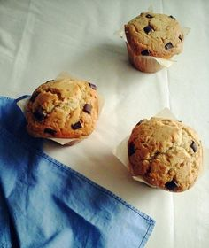 Muffin starbuck au gros chunk de chocolat noir et amande