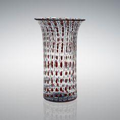 KERTTU NURMINEN - Maljakko, Sign. Kerttu Nurminen Nuutajärvi Notsjö.  [k. 24 cm] Glass Design, Design Art, Alvar Aalto, Lassi, Finland, Modern Contemporary, Scandinavian, Glass Art, Retro Vintage