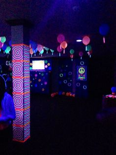 neon party with black lights