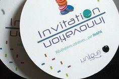 Multiloft invitation pour INAPA showcase avec le sheet texturé 320g Invitations, Texture, Creative, Carte De Visite, Lush, Cards, Color, Surface Finish, Save The Date Invitations